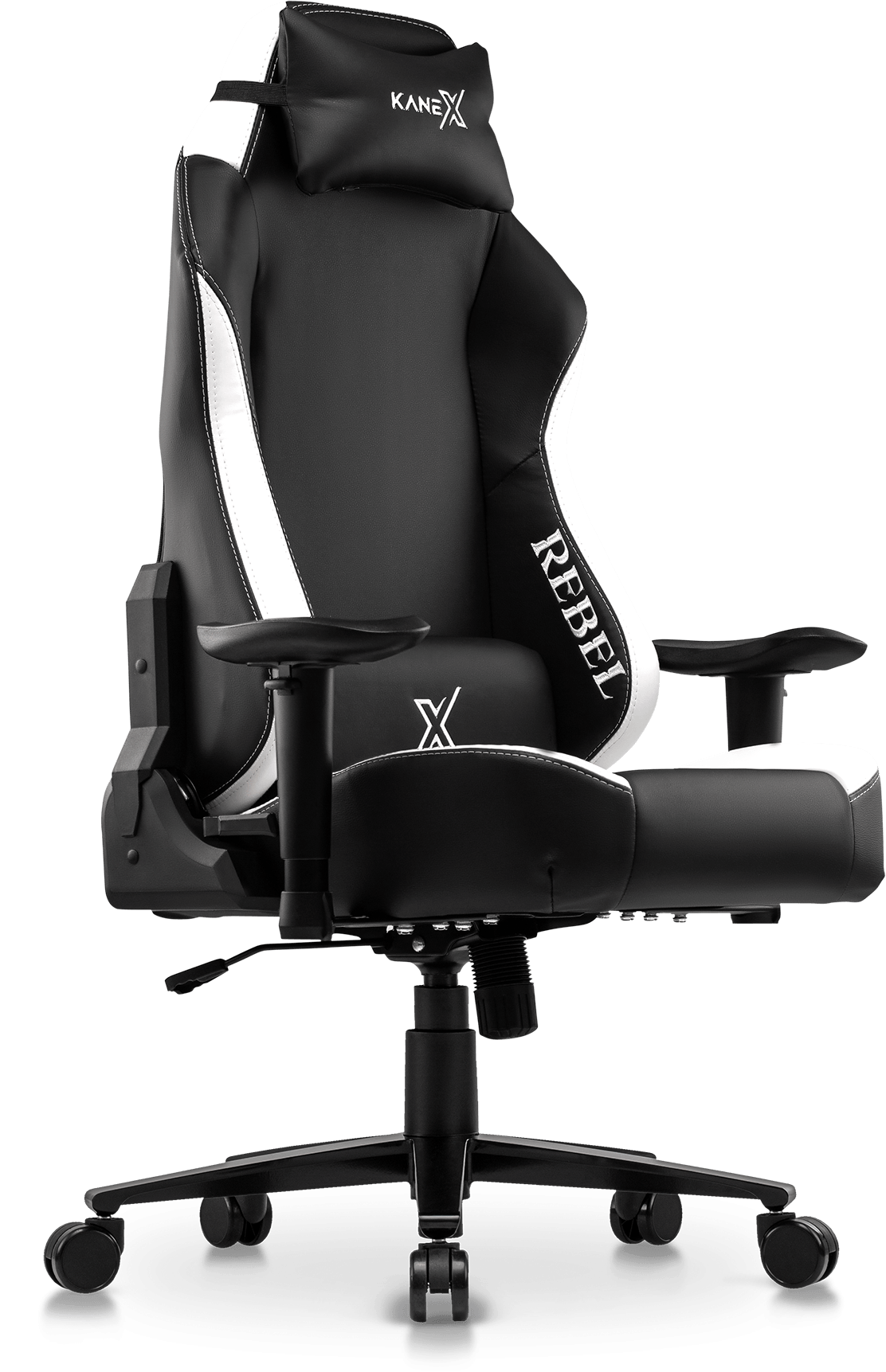 Rebel Professional Gaming Chair in Premium PU Leather in Full Black.