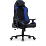 Hermes Professional Gaming Chair in stretchable High Grade Synthetic Fabric in Black with Blue details.