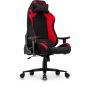 Hermes Professional Gaming Chair in stretchable High Grade Synthetic Fabric in Black with Red details.