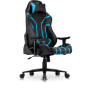 Nemesis Professional Gaming Chair in Premium PU Leather in Black with Blue details.