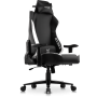 Rebel Professional Gaming Chair in Premium PU Leather in Black with White details.